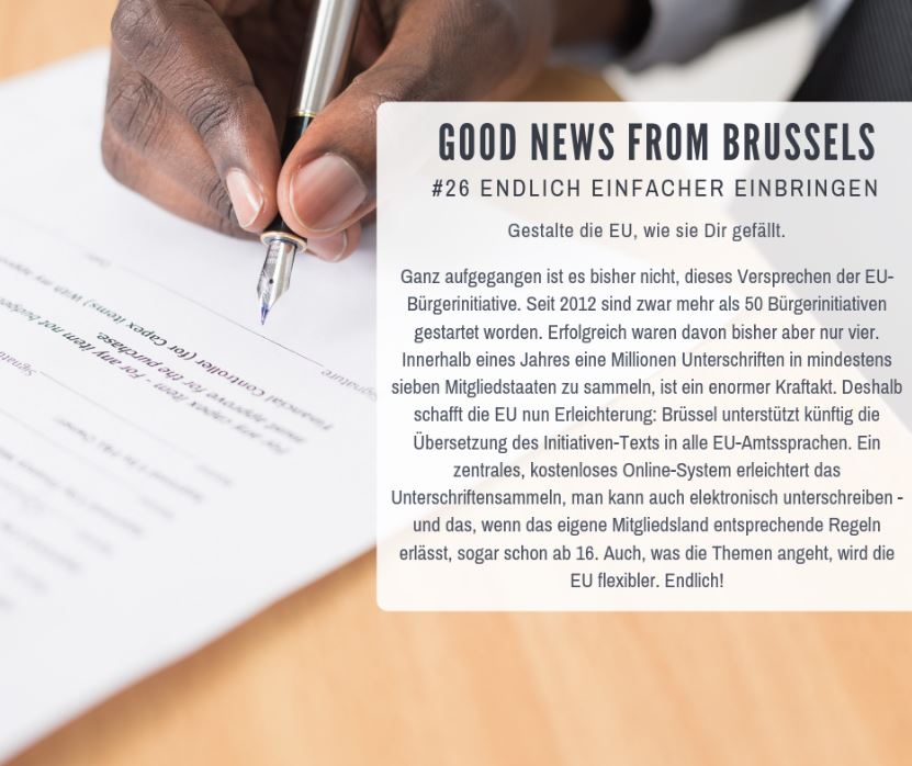 Good News from Brussels #27