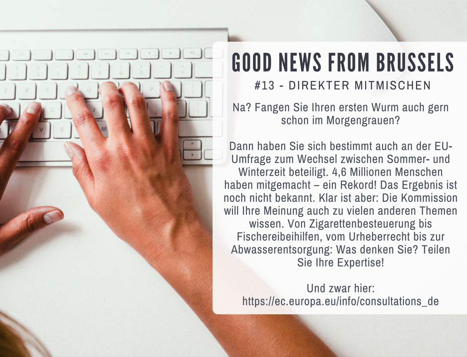 Good News from Brussels #13