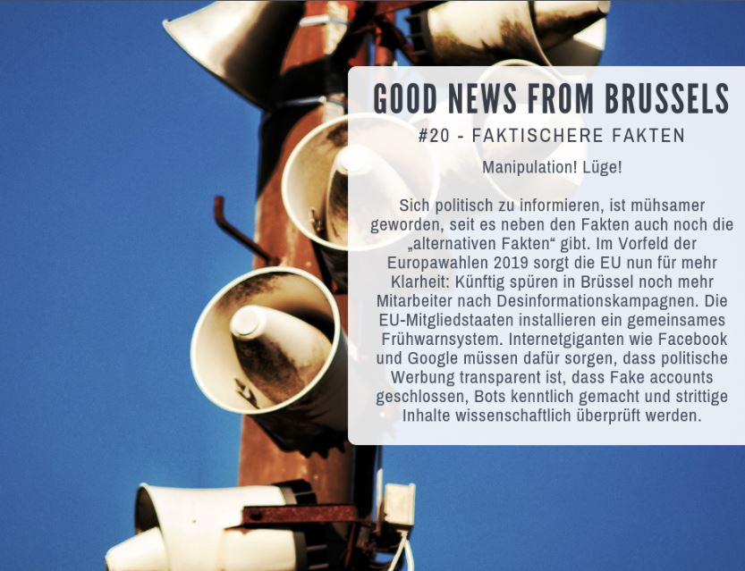 Good News from Brussels #20