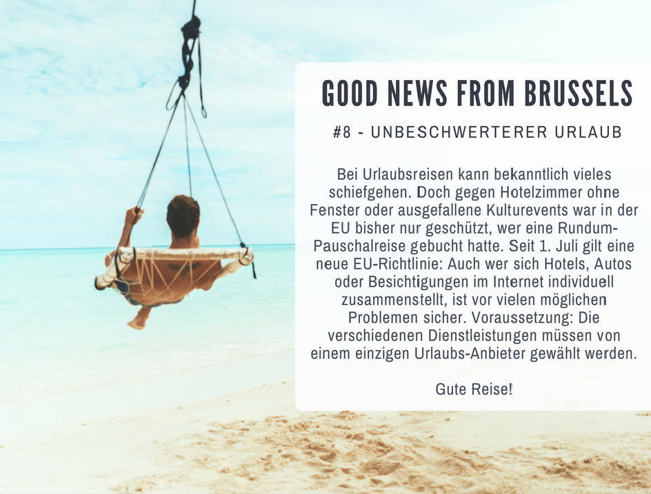 Good News from Brussels #8